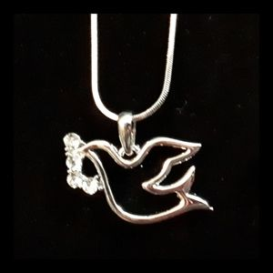 NEW Dove with Olive Branch Pendant/Chain